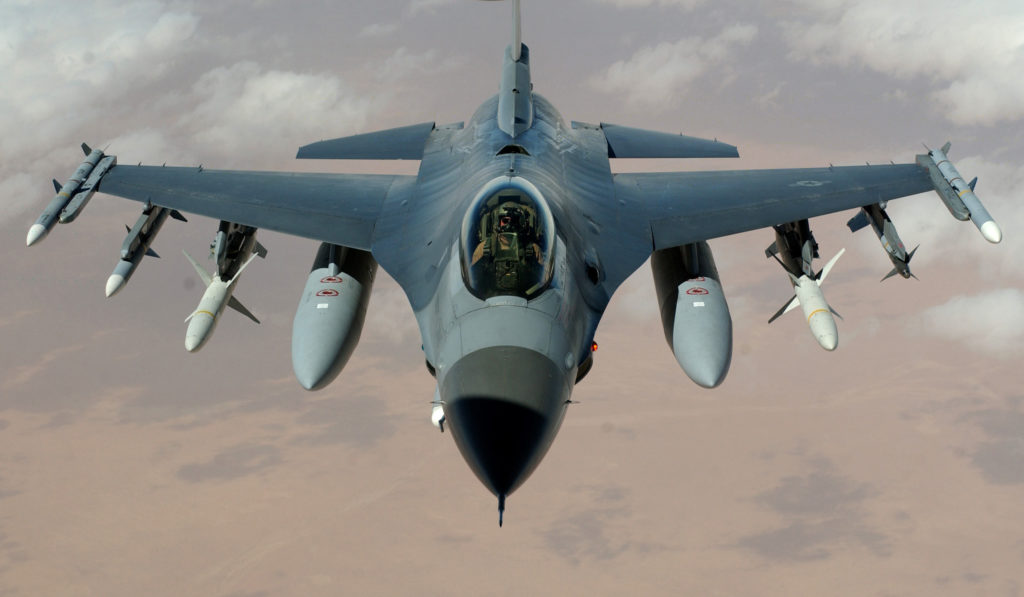 US Air Force F-16 Fight Falcon Crashed During A Standard Training Task