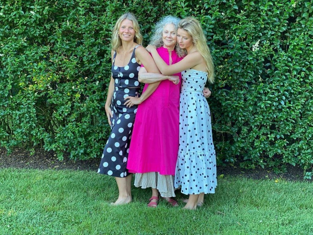 Gwyneth Paltrow, her mother, and her daughter promoted a new generational sharing concept while wearing the outfits from Goop Collection G.Label.